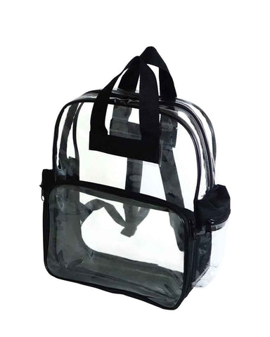 6 ct Heavy Vinyl Polyester Clear Backpack - Pack of 6