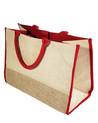 48 ct Fashion Jute Tote Bags / Heavy Duty Burlap Bags - By Case