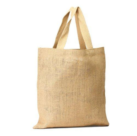 6 ct Wholesale Burlap Bags - Promotional Jute Tote Bags - Pack of 6