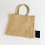 large jute burlap bag with phone