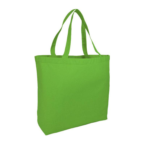 Extra-Large Heavy Canvas Tote Bags with Hook and Loop Closure - (CLOSEOUT)