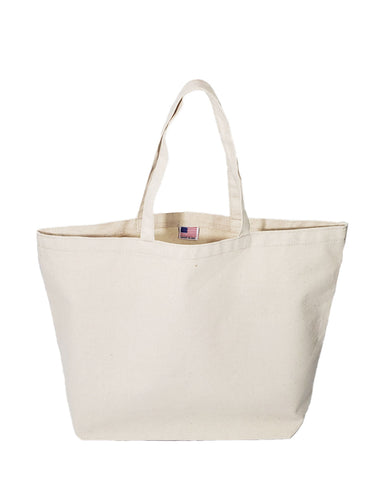 Carry-All Large Canvas Tote Bag - Made in USA