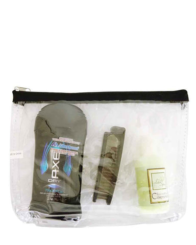 360 ct Multi Purpose Cosmetic Clear Bag / Clear Makeup Bags - By Case
