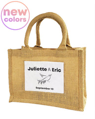 mini jute tote bags vintage burlap bags new colors