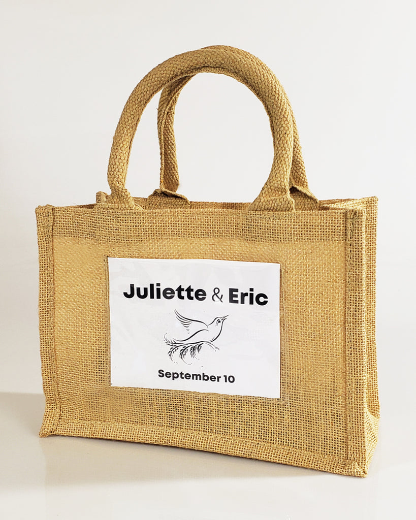 best loved cost charm lowest price Rustic Wedding Favor Burlap Bags / Promotional Jute Totes TJ907