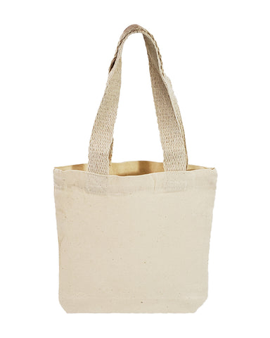 "8"" Mini Cotton Canvas Gift Tote Bags - TC208"