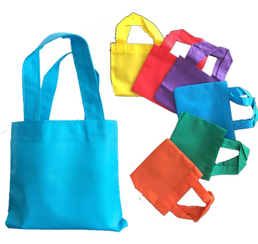 6 Quot Mini Non Woven Tote Bag With Fabric Handles Promotional