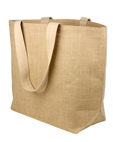 6 ct Large Jute Beach Bag / Burlap Beach Totes - Pack of 6