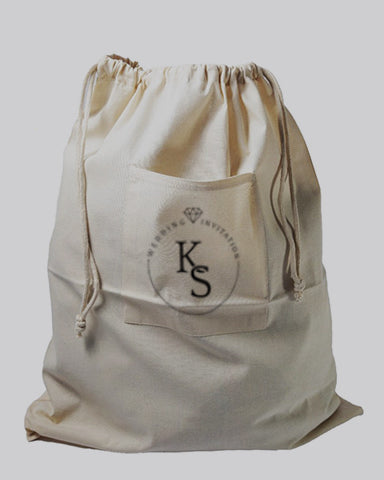 Affordable Drawstring Cotton Laundry Bags Customized - Personalized Laundry Bags With Your Logo - LBP