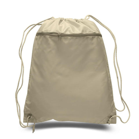 Promotional Polyester Cheap Drawstring Bags with Front Pocket POL11