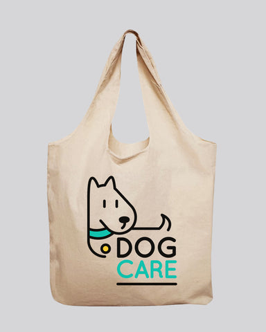 Large 100% Soft Cotton Stow-N-Go Tote Bag - Organic Tote Bags With Your Logo