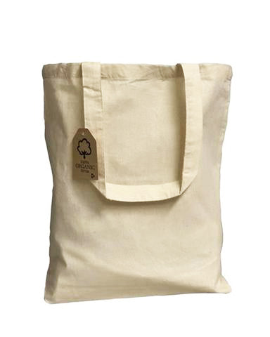 12 ct Organic Cotton Canvas Tote Bags with Gusset - By Dozen