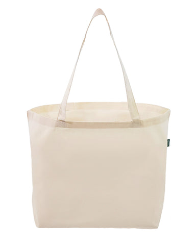 12 ct Large Organic Cotton Grocery Tote Bags - By Dozen
