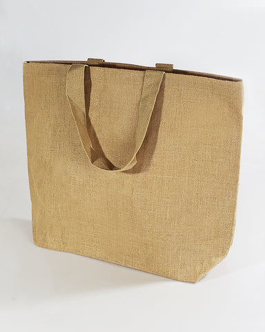6 ct Oversize Jute Bags / Burlap Travel Totes - Pack of 6