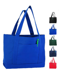 Royal Sturdy Shopping Tote Bags Solid With PVC Backing
