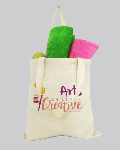 Budget 100% Cotton Natural Printed Tote Bags - Custom Tote Bags With Your Logo