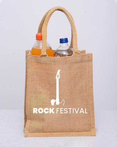 Small Burlap Promotional Tote Bags - Customized Canvas Tote Bags With Your Logo
