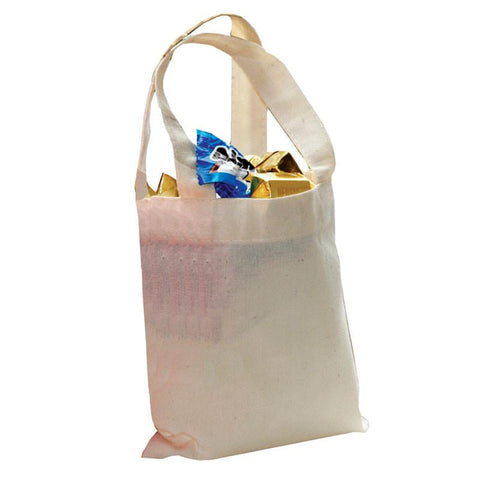 "24 ct MINI Cotton 6"" Tote Bags - Pack of 24"