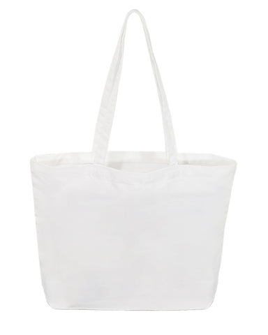 Large 100% Polyester Canvas Sublimation Tote Bags White - SB219