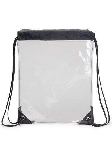 72 ct Quailty Clear Vinyl Drawstring Tote Bag - By Case
