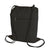 cotton drawstring bag zipper thumbnail black