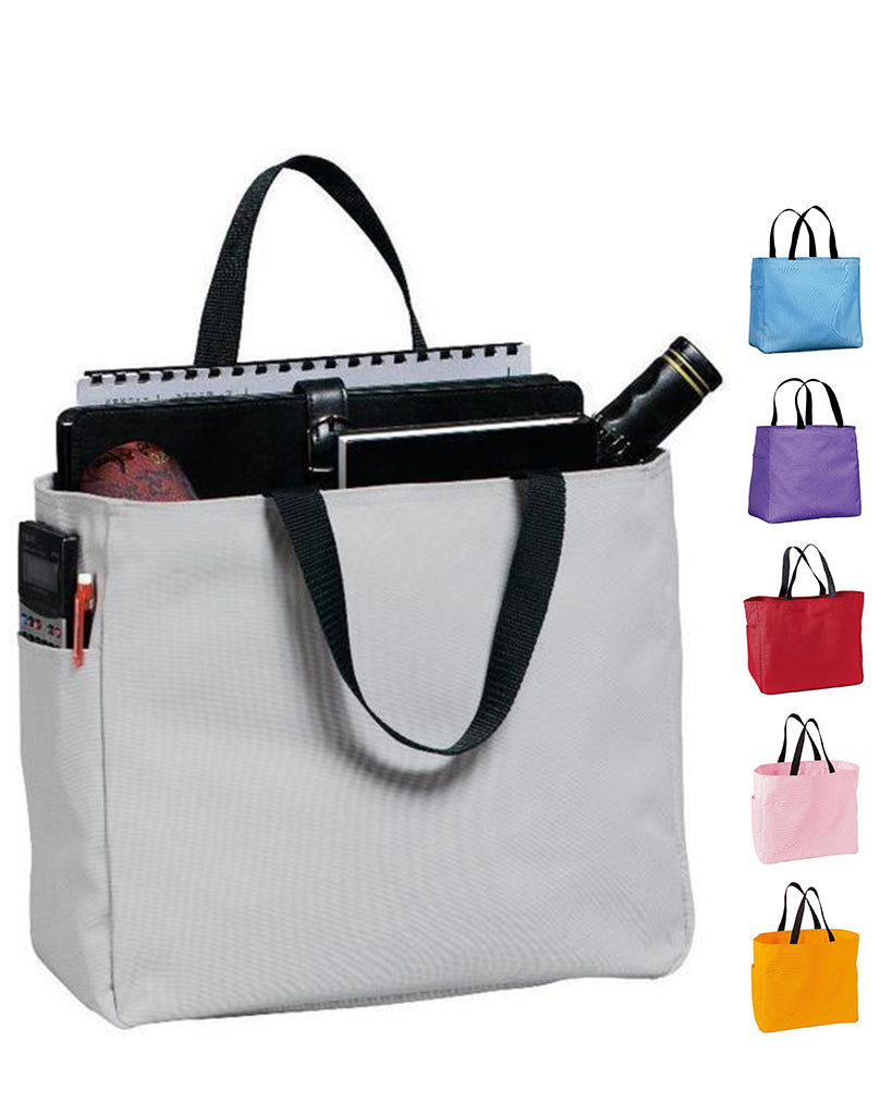 b6f404e43141 Polyester Improved Essential Tote Bags Wholesale
