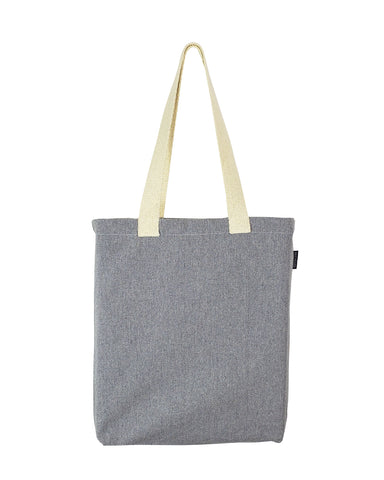 6 ct Recycled Canvas Tote Bag With Bottom Gusset - Pack of 6