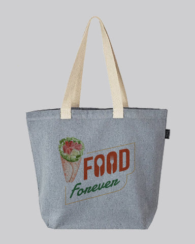 Custom Large Size Recycled Shopping Tote Bags - Recycled Tote Bags With Your Logo - RC894
