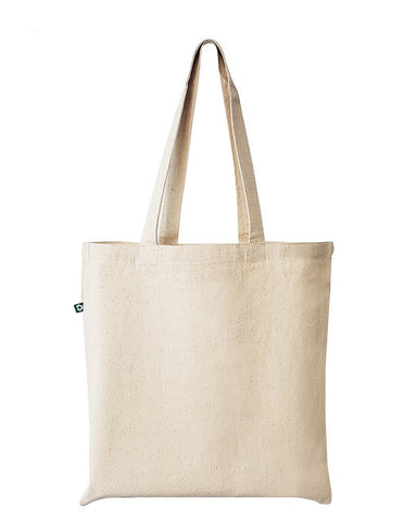 12 ct Eco Friendly Recycled Cotton Canvas Basic Tote Bags - By Dozen