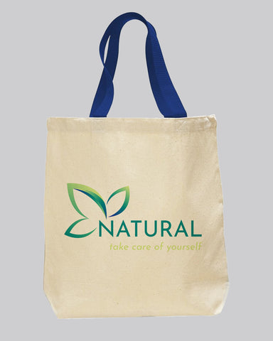 Royal Handle Customize Canvas Tote Bags - Custom Logo Canvas Tote Bags