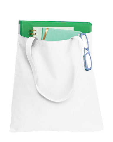 Polyester Daily Use Document Tote Bags with Self Fabric Handles