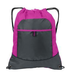 Cheap Drawstring Bags /Two Tone Pocket Cinch Pack