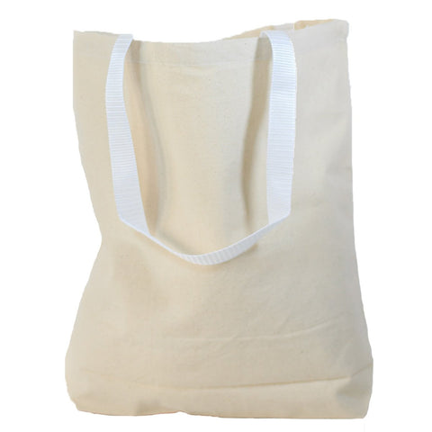 Medium Canvas Tote Bags with White Handles TC216