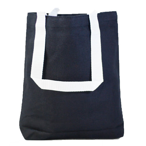 Small Canvas Tote Bags with White Handles - TC212 (CLOSEOUT)