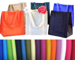 Pack of 4 - Reusable Heavy Duty Grocery Bags Bundle