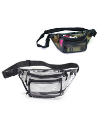 Transparent Three Zipper Fanny Pack Color Thumnail