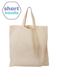 Short Handle Cotton Tote Bags / Document Holder Totes