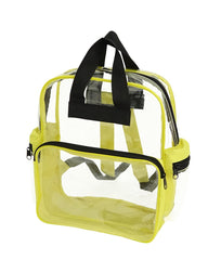 transparent two zippered backpack yellow