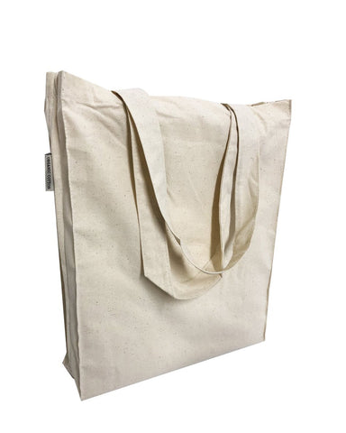 12 ct Cotton Book Bags with Full Gusset / Small Tote Bag - By Dozen