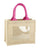 wedding burlap bag pink natural