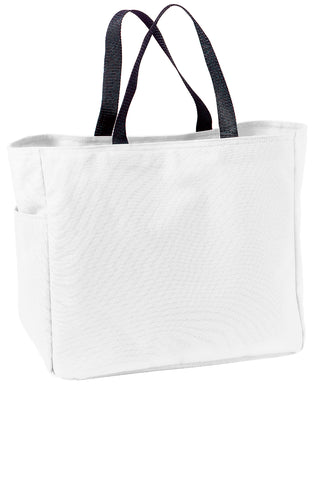 Polyester Improved Essential Tote Bags Wholesale - White
