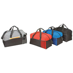 Cheap Multi Color Polyester Duffle Bags With Heavy Vinyl Backing