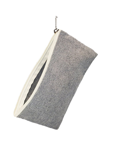 6 ct Recycled Canvas Flat Zipper Pouch - Pack of 6