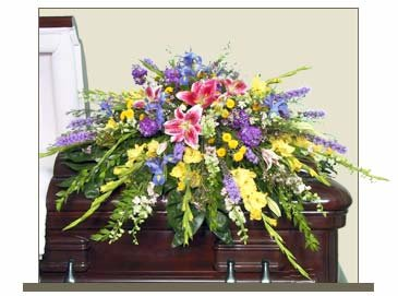 Garden of Life Casket Spray