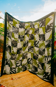 Black & Green Palm Quilt