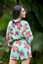 Load image into Gallery viewer, Plumeria Peek-A-Boo Romper