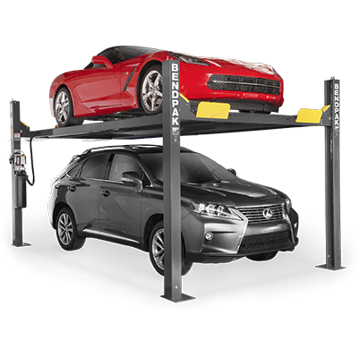 BendPak HD-9XW 4-Post Car Lift 9,000 Lb. Capacity, High, Standard Width - 5175863
