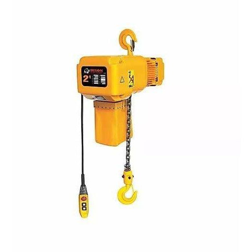 Bison Lifting Equipment HH-B20 2 Ton 20 ft Lift Single Phase Electric Chain Hoist
