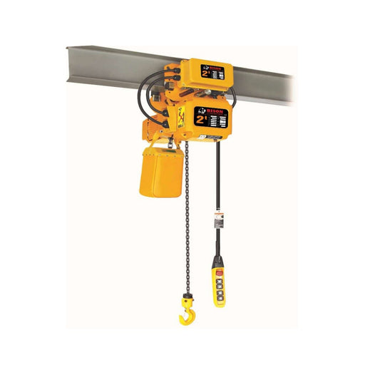 Bison Lifting Equipment HHBD01SK-01+WPC02 2 Ton 20 ft Lift 3 Phase Single Speed Electric Chain Hoist with Trolley