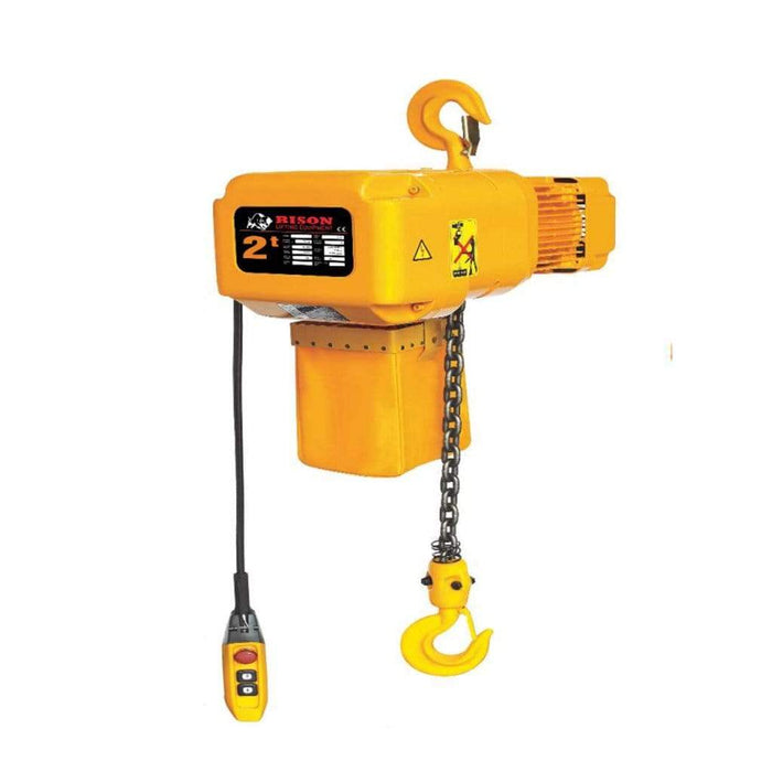 Bison Lifting Equipment HHBD02SK-01 2 Ton 20 ft Lift 3 Phase Single Speed Electric Chain Hoist